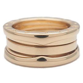 Authentic BVLGARI B-zero1 Ring K18 Yellow Gold #49 US4.5-5 HK10 EU48.5 Used F/S