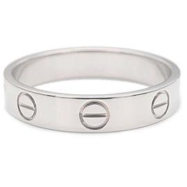 Auth Cartier Mini Love Ring K18WG 750WG White Gold #52 US6-6.5 EU52 Used F/S