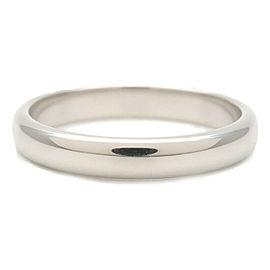 Authentic Tiffany&Co. Classic Band Ring PT950 Platinum US6.5 HK14 EU53 Used F/S