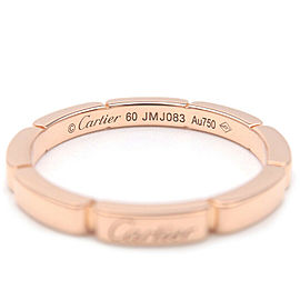 Auth Cartier maillon Panthère 4P Diamond Ring Rose Gold #60 US9-9.5 Used F/S