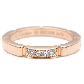 Auth Cartier maillon Panthère 4P Diamond Ring Rose Gold #50 US5-5.5 Used F/S