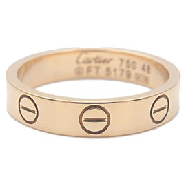 Authentic Cartier Mini Love Ring K18YG 750 Yellow Gold #48 US4.5 EU48 Used F/S