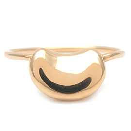 Authentic Tiffany&Co. Bean Ring K18YG 750YG Yellow Gold US6-6.5 EU52 Used F/S