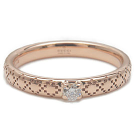 Authentic GUCCI Diamantissima 1P Diamond Ring Rose Gold US4 HK8.5 EU47 Used F/S