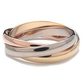 Authentic Cartier Trinity Ring K18 750 YG/WG/PG #51 US5.5 HK13 EU51.5 Used F/S