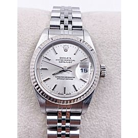 Rolex Ladies Datejust 79174 Silver Dial Stainless Steel Box Papers