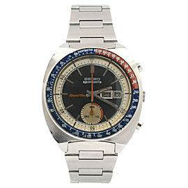 SEIKO chronograph DAY-DATE Speed Timer Sports 5 Steel 40mm Watch Ref: 6139-6022
