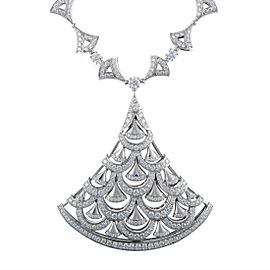 Bulgari Diva's Dream 18K White Gold with 15.73ct Diamond Large Pendant Necklace