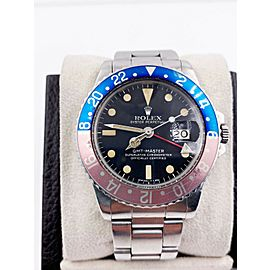 Vintage Rolex GMT Master1675 Pepsi Red Blue Stainless Steel 1978 MATTE DIAL