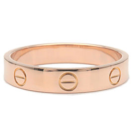 Authentic Cartier Mini Love Ring K18 Rose Gold #57 US8-8.5 HK18 EU57.5 Used F/S
