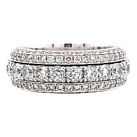 Five Row Diamond Spinning Eternity Band 4.55 tcw in 18kt White Gold