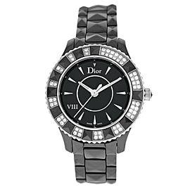 Christian Dior VIII Black Eight CD1231E1C001 Ladies Ceramic Diamond 34MM Watch