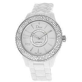 Christian Dior VIII CD1245E5C001 Ladies Ceramic Diamond 39MM Automatic Watch