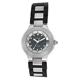 Cartier Autoscaph 2427 Stainless Steel Automatic Unisex 37MM Date Watch