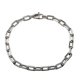 Authentic Cartier Spartacus Chain Bracelet K18WG 750WG White Gold Used F/S