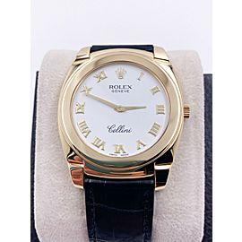 Rolex Cellini Cestello 5330 / 8 White Dial 18K Yellow Gold