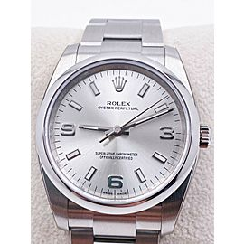 BRAND NEW Rolex 114200 Oyster Perpetual Silver Dial Stainless