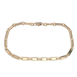 Authentic Cartier Figaro Bracelet K18YG 750YG Yellow Gold Used F/S