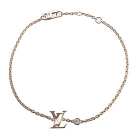 Auth Louis Vuitton Bracelet Idylle Blossom 1P Diamond Rose Gold Q95595 Used F/S
