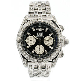 BREITLING Crosswind Big Date Special DIAMOND Chronograph Automatic Watch A44355