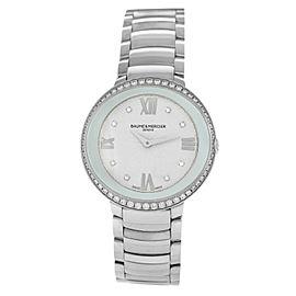 Baume & Mercier Promese 65759 Ladies MOP Diamond Steel 34MM Quartz Watch