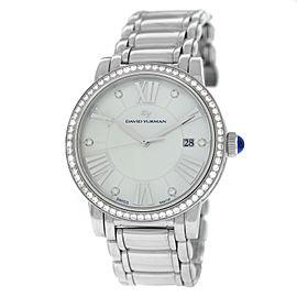 David Yurman Classic T716-M Ladies MOP Diamond Steel 38MM Date Quartz Watch