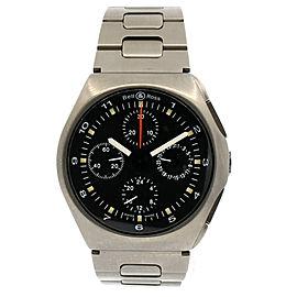 Bell & Ross SPACE 3 GMT Titanium 42mm 24HR Automatic Men's Watch
