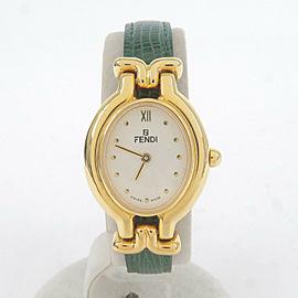Authentic FENDI Ladies Changeable Leather Belt Wrist Watch Quartz 640L