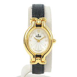 Authentic FENDI Ladies Changeable Leather Belt Wrist Watch Quartz Used F/S