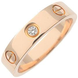 Cartier Mini Love Ring 1P Diamond Rose Gold 5-5.5