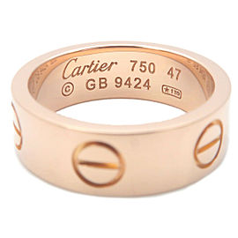 Authentic Cartier Love Ring K18 750PG Rose Gold #47 US4-4.5 HK9 EU47 Used F/S