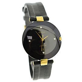 Rado Jubile 129.3575.4N Diamond Gold Stainless Steel Date Quartz 32MM Watch