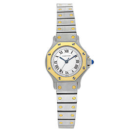 Cartier Santos Octagon 18K Yellow Gold Stainless Steel Automatic 24MM Watch