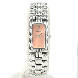 Authentic FENDI Square Wrist Watch Quartz Stainless Steel Orange 660L Used F/S
