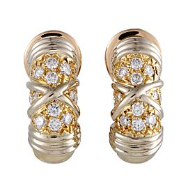 Van Cleef & Arpels 18K Yellow Gold with 0.50ct Diamond Clip-on Earrings