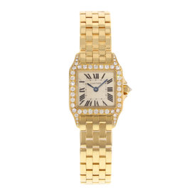Cartier Santos WF9001Y7 20mm Womens Watch