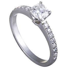 Tiffany & Co. 950 Platinum with 0.49ct Diamond Engagement Ring Size 5.5