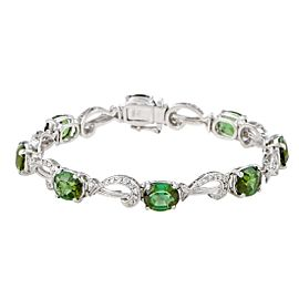 H. Stern 18K White Gold 18.50ct Green Tourmaline and Diamond Bracelet