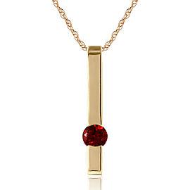 0.25 CTW 14K Solid Gold Thunder Garnet Necklace