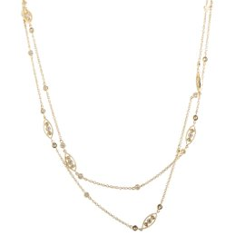 Odelia 18K Yellow Gold with 2.07cwt Diamond Long Sautoir Necklace