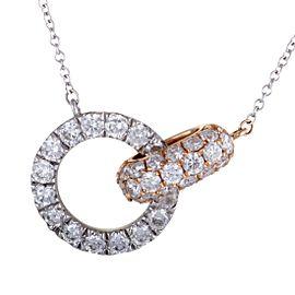 Odelia 18K White Gold, 18K Rose Gold Diamond Pendant