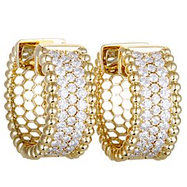 Odelia 18K Yellow Gold Diamond Earrings