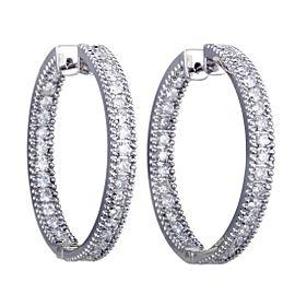 Odelia 18K White Gold Diamond Earrings