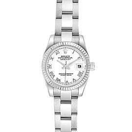 Rolex Datejust 26 Steel White Gold Oyster Bracelet Ladies Watch 179174