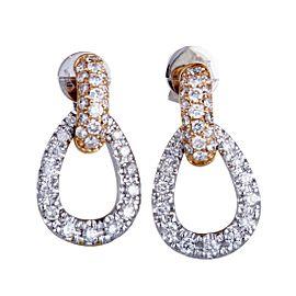 Odelia 18K White Gold, 18K Rose Gold Diamond Earrings