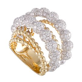 Odelia 18K White Gold, 18K Yellow Gold Diamond Ring