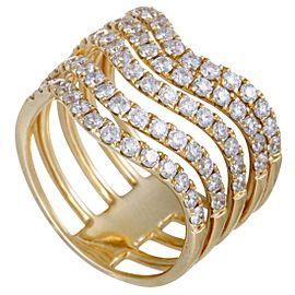 Odelia 18K Yellow Gold Diamond Ring