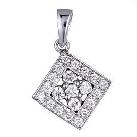 Odelia 18K White Gold Diamond Pendant