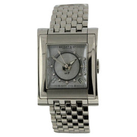 Bedat & Co. No.7 Stainless Steel Date Mother of Pearl Diamond Dial 25.5mm x 32mm Watch