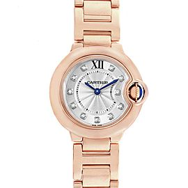 Cartier Ballon Bleu Rose Gold Diamond Ladies Watch WJBB0016